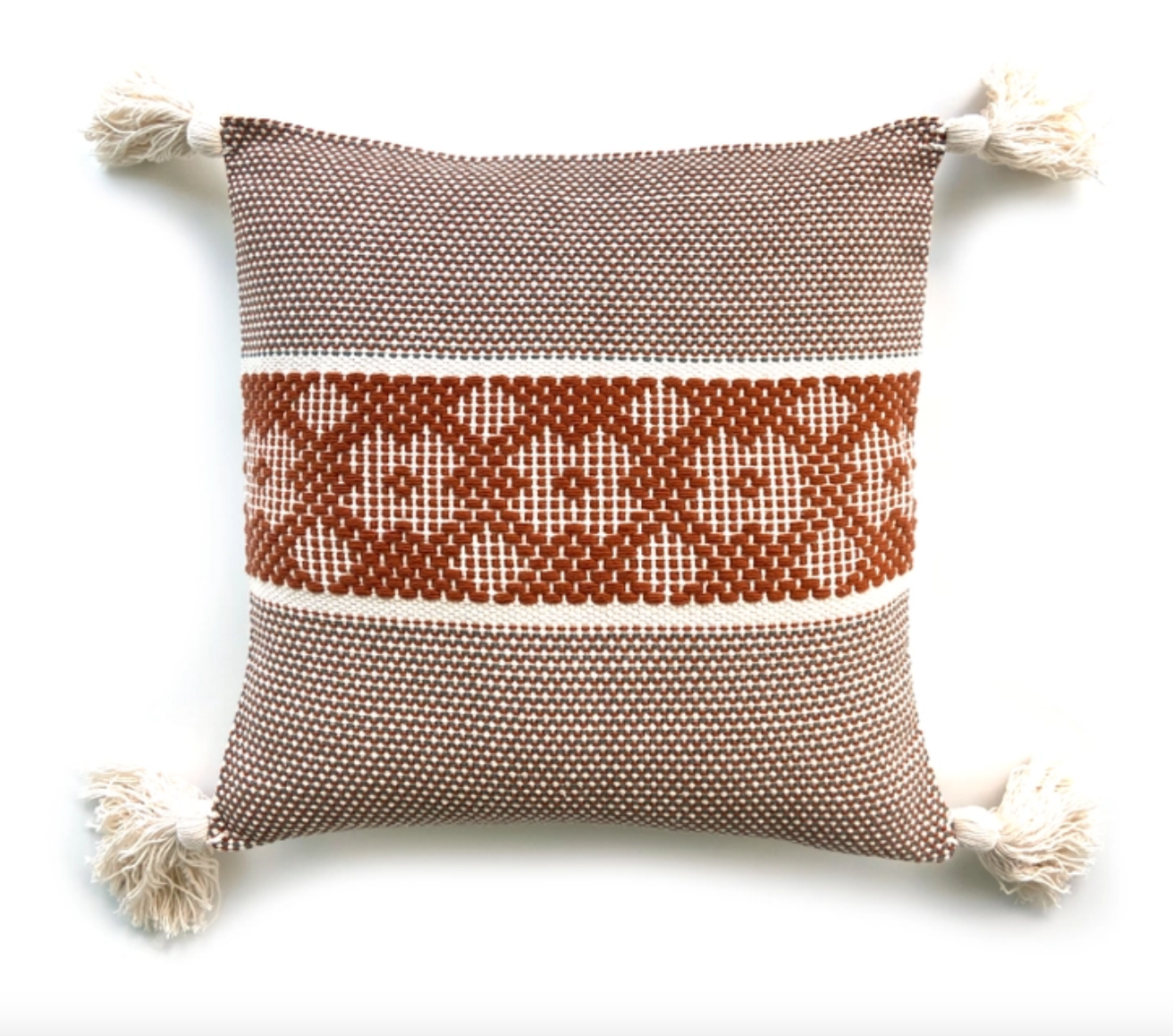 Handwoven Pillow Cover | Rust