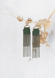 Curtain Earrings | Moss