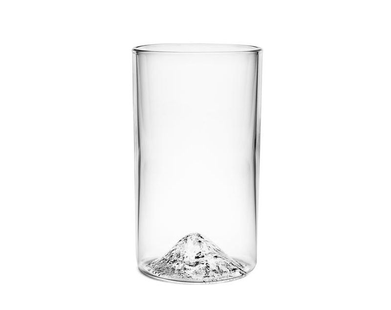 3D Mountain Pint Glass