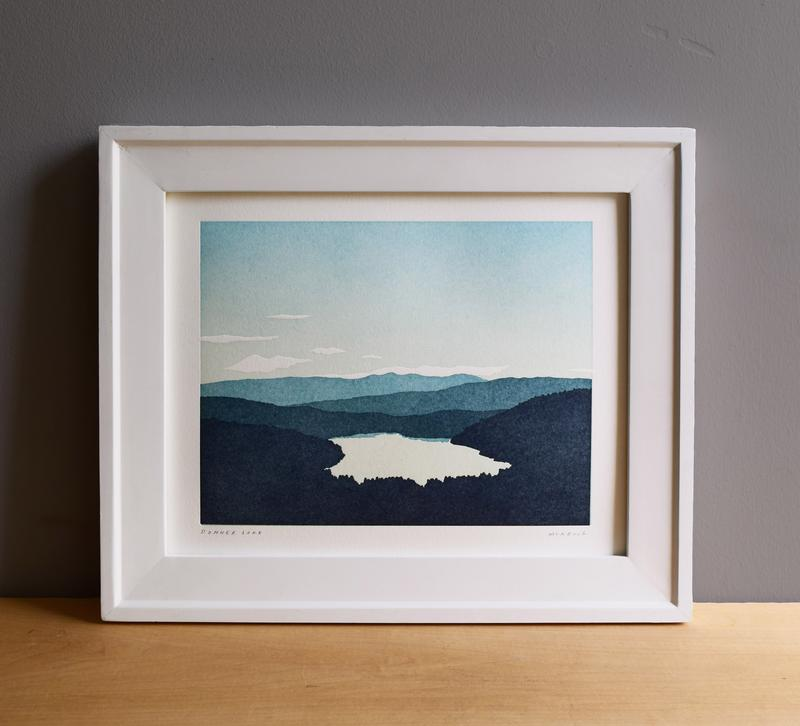 Donner Lake Letterpress Print