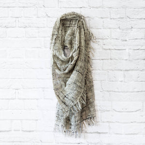Kenya Open Weave Wool Shawl | Grey