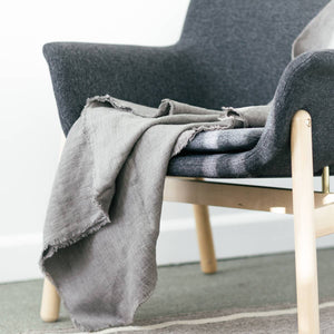 Stone Washed Lightweight Blanket | Oyster