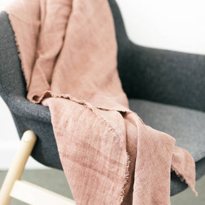 Stone Washed Lightweight Blanket | Rose