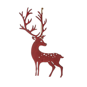 Enamel Metal Reindeer Ornament