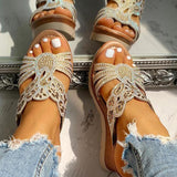 Vickymoda Platform Wedge Casual Sandals
