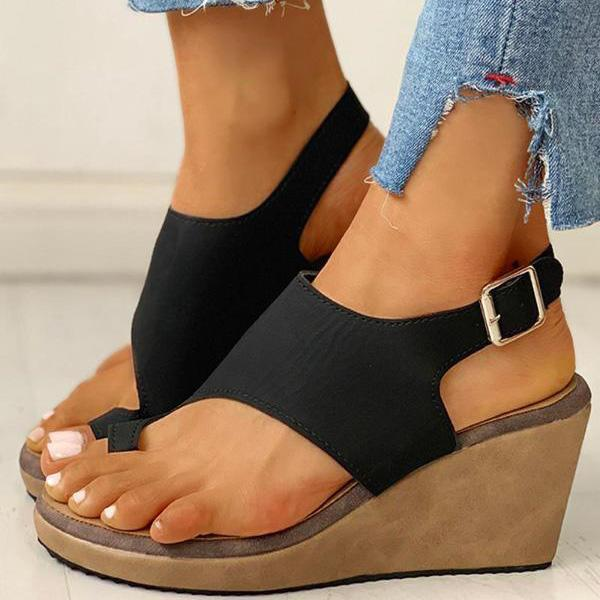 Vickymoda Toe Ring Cutout Slingback Sandals