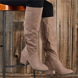 Vickymoda Winter Suede Low Heel Daily Boots