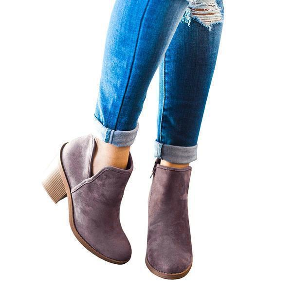 Vickymoda Suede Chunky Boots
