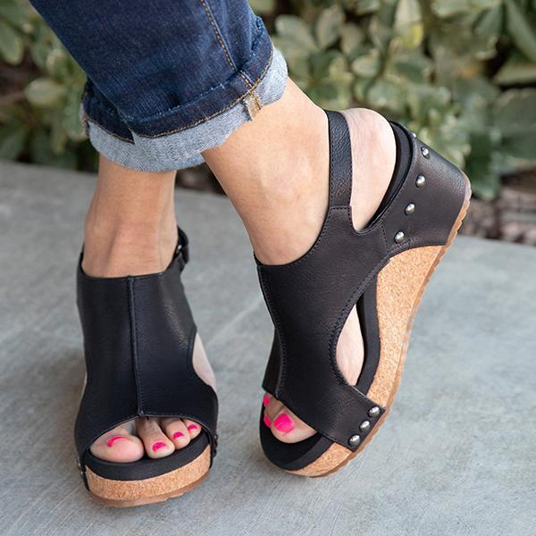 Vickymoda Women Fashion Comfy Wedges