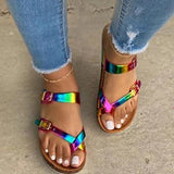 Vickymoda Fashion Button Summer Sandals