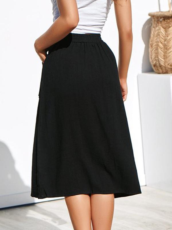 Vickymoda Four-color-breasted Loose Pocket Skirt
