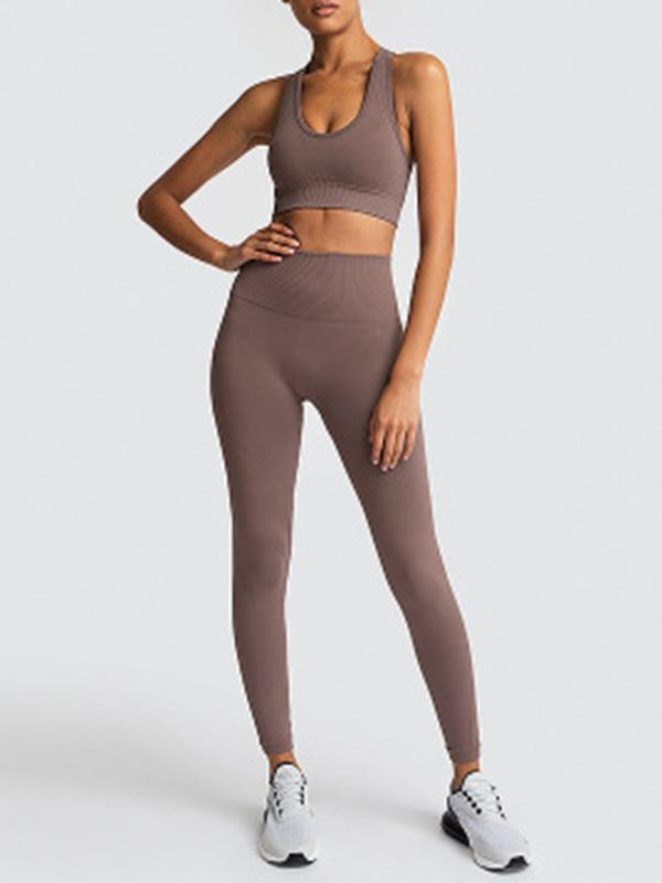 Vickymoda Seamless Knitted Yoga Top