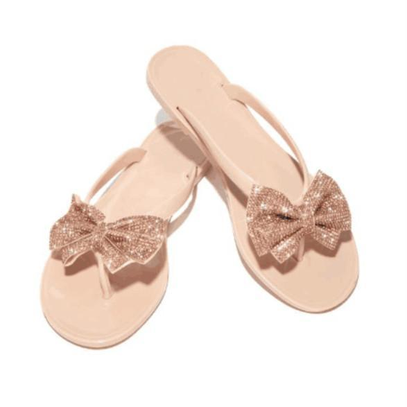Vickymoda Summer Daily Bow Simple Slippers