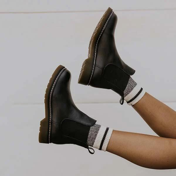 Vickymoda Artificial Leather Chelsea Boots