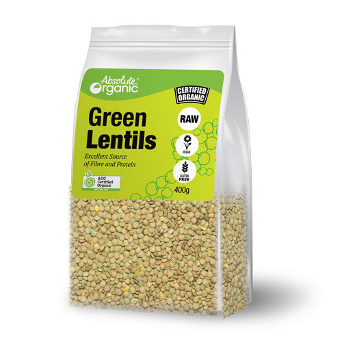 Absolute organic Lentils Green (Whole) 400g