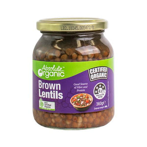 Absolute organic Brown Lentils 360g