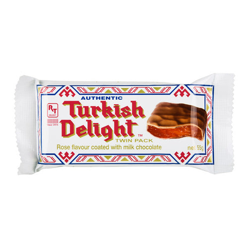 Turkish Delight Rose Flavour coated with Chocolate 55g