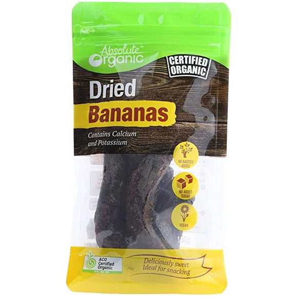 Absolute organic Dried Bananas Whole 150g