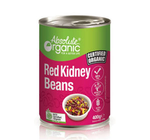 Absolute organic beans Red Kidney (Tin) 400g