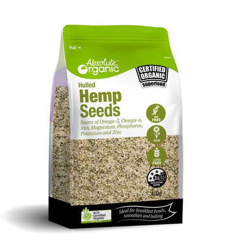 Absolute organic Hemp seeds Hulled 400g