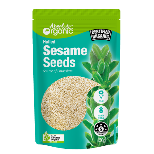 Absolute organic Hulled Sesame seeds 150g