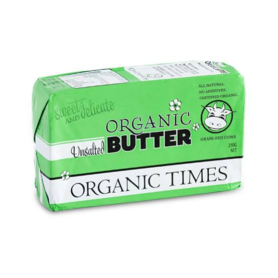 Organic Times Unsalted Butter 250gm