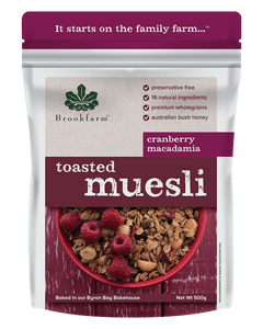 Brookfarm Toasted Cranberry Macadamia(500gm)