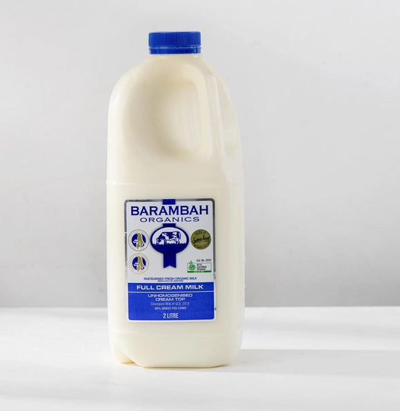 Barambah Organic Full Cream 2Lt