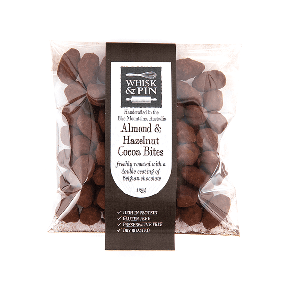 Whisk & Pin Almond & Hazelnut Cocoa Bites 125g