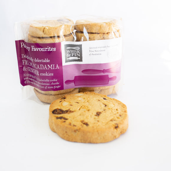 Whisk & Pin Fig, Macadamia & Ginger cookies 400g