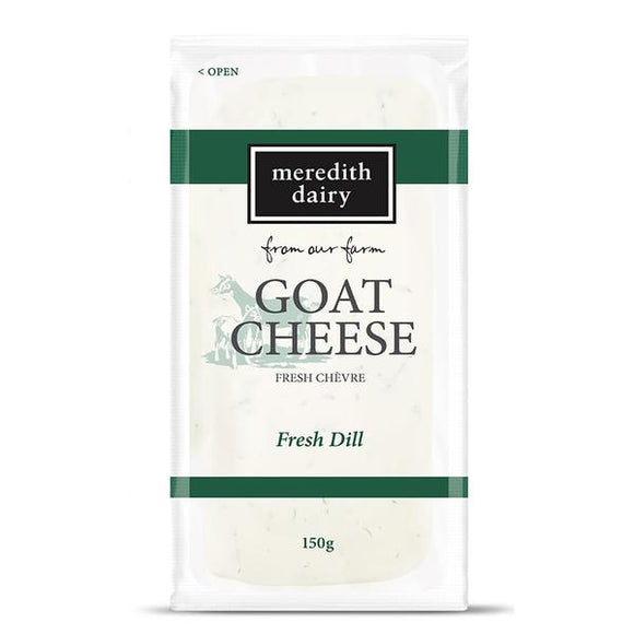 Meredith Dairy Goat cheese Chevre  with Dill 150g