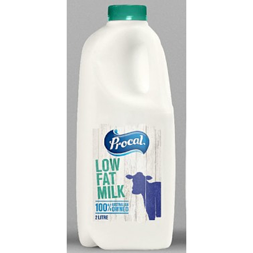 Procal Low Fat Milk 2lt