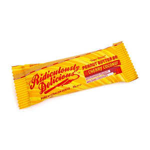 Ridiculously Delicious Peanut Butter Bar Cherry Coconut 50g