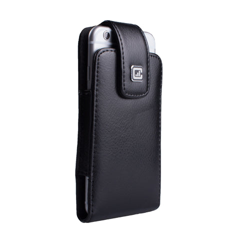CASE123® MPS Classic SL Elite Premium Genuine Leather Oversized Vertical Swivel Belt Clip Holster for Apple iPhone 8/7/6/6s (4.7 inch screen)
