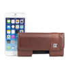 CASE123® MPS Mk II SL Premium Genuine Leather Horizontal Swivel Belt Clip Holster for Apple iPhone 6/6s/7 (4.7 inch screen) - Dark Cognac Brown