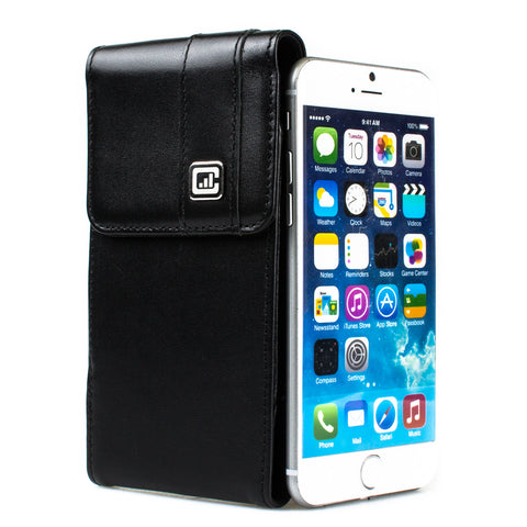 CASE123® MPS Mk II SL Premium Genuine Leather Vertical Swivel Belt Clip Holster for Apple iPhone 6/6s/7 (4.7 inch screen)