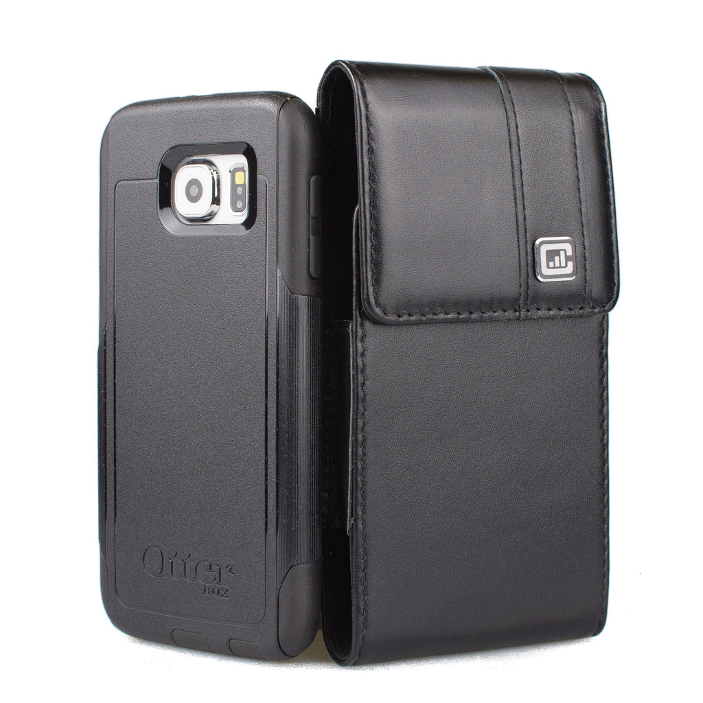 CASE123® MPS Mk II TL Premium Genuine Leather Vertical Swivel Belt Clip Holster for Samsung Galaxy S6 & S6 Edge