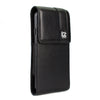 CASE123® MPS Mk II TL Premium Lambskin Leather Large Oversized Vertical Swivel Belt Clip Holster for Samsung Galaxy S6 & S6 Edge