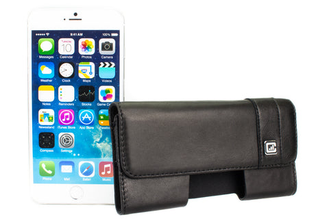 CASE123® MPS Mk II SL Premium Genuine Lambskin Leather Horizontal Swivel Belt Clip Holster for Apple iPhone 8/7/6/6s Plus (5.5 inch screen)