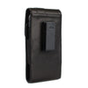 CASE123® MPS Mk II XLR Premium Genuine Lambskin Leather Larger Oversized Vertical Swivel Belt Clip Holster for Samsung Galaxy S6 & S6 Edge for use with Otterbox Defender, Lifeproof, and other rugged cases - Black
