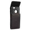 CASE123® MPS Mk II XLR Premium Genuine Lambskin Leather Vertical Swivel Belt Clip Holster for Apple iPhone 8/7/6/6s (4.7 inch screen) for use with Otterbox Defender and Mophie Battery Case - Black