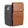CASE123® MPS Mk II XLR Premium Genuine Leather Large Oversized Vertical Swivel Belt Clip Holster for Samsung Galaxy S6 & S6 Edge for use with Otterbox Defender, Lifeproof, and other rugged cases - Medium Brown