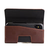 CASE123® MPS Mk II TL Premium Genuine Leather Oversized Horizontal Swivel Belt Clip Holster for Apple iPhone X for use with Otterbox Commuter, Symmetry Series Cases, and more - Dark Cognac Brown