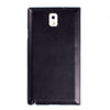 CASE123® IntelliView Genuine Lambskin Leather Slim Smart Battery Cover Flip Folio Case for Samsung Galaxy Note 3 III N9000 - Black