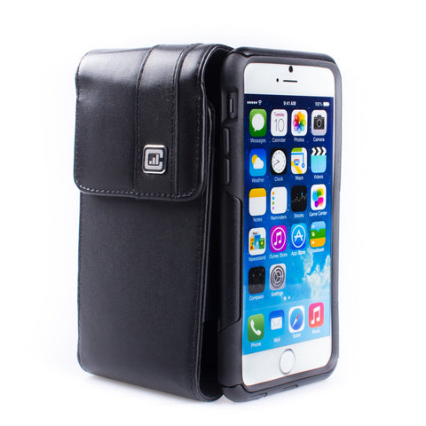 CASE123® MPS Mk II TL Premium Genuine Leather Vertical Swivel Belt Clip Holster for Apple iPhone 8/7/6/6s (4.7 inch screen)