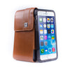 CASE123® MPS Mk II TL Premium Genuine Leather Vertical Swivel Belt Clip Holster for Apple iPhone 6/6s/7 (4.7 inch screen) - Medium Brown