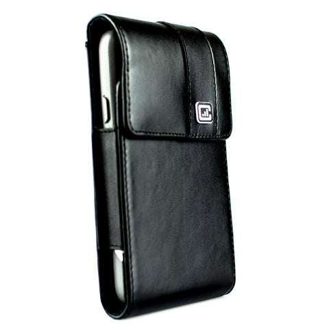 CASE123® MPS Mk II XXL Premium Genuine Leather Vertical Swivel Belt Clip Holster for Samsung Galaxy S5