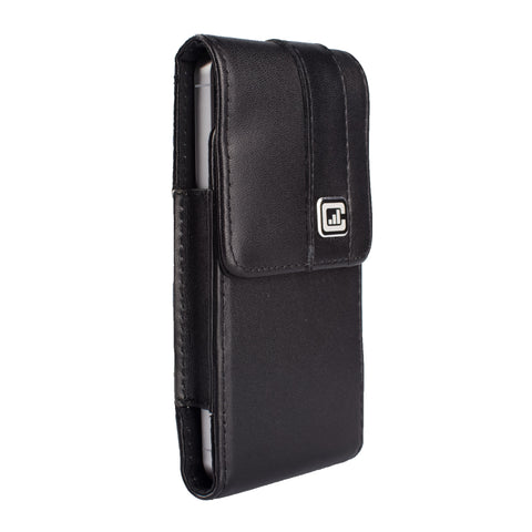 CASE123® MPS Mk II SL Premium Genuine Leather Vertical Swivel Belt Clip Holster for Apple iPhone 5/5s/5c