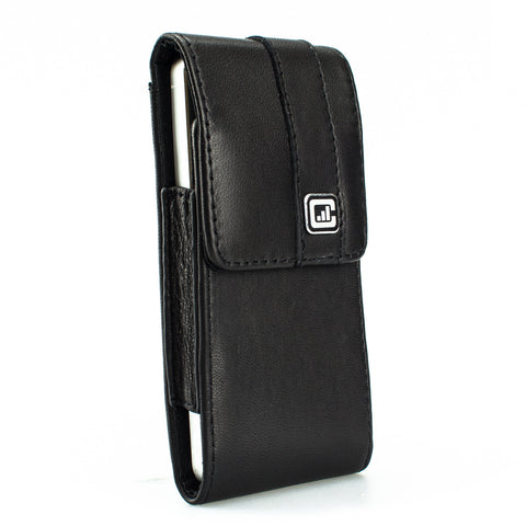 CASE123® MPS Mk II SL Premium Lambskin Leather Vertical Swivel Belt Clip Holster for Apple iPhone 5/5s/5c