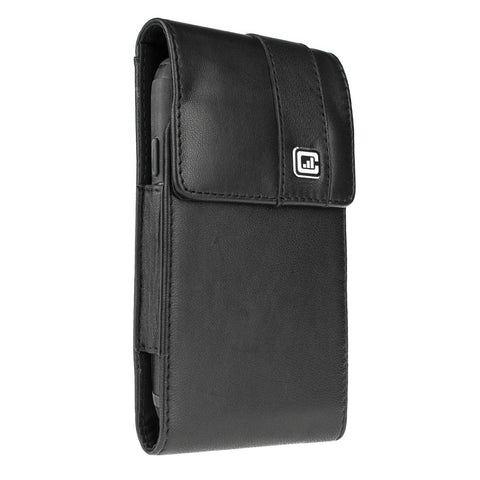 CASE123® MPS Mk II XXL Premium Lambskin Leather Vertical Swivel Belt Clip Holster for Samsung Galaxy S5